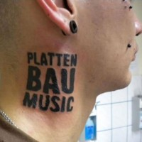 Plattenbau-Music Tattoo